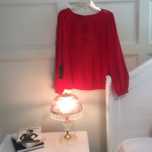 NWT Bebe Lace Detailed Blouse